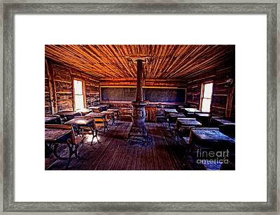 One-room School House Framed Print by Paul W Faust -  Impressions of Light