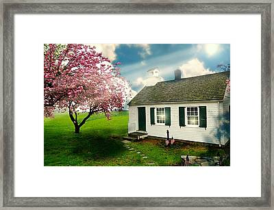 The Little Old Schoolhouse Framed Print by Diana Angstadt