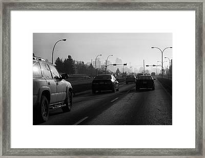 One Smoggy Morning Framed Print by Trever Miller