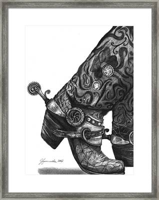 One Step At A Time Framed Print by J Ferwerda