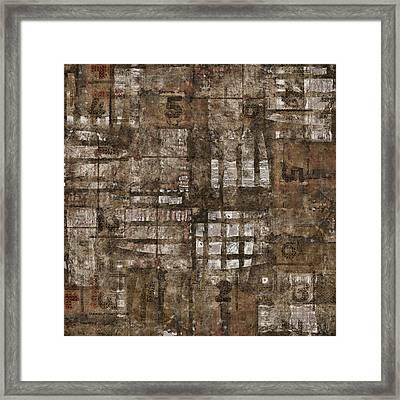 One Through Six Framed Print by Carol Leigh