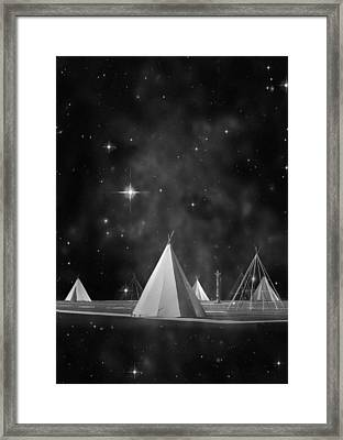 One Tribe Bw Framed Print by Laura Fasulo