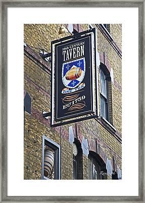 One Tun Tavern Framed Print by Cheri Randolph