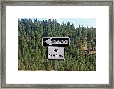 One Way Framed Print by Larry Stolle
