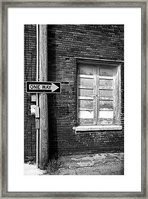 One Way Framed Print by Peter Tellone