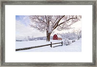 One Winter Morning On The Farm Framed Print by Edward Fielding