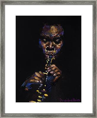 One With The Music Framed Print by Ellen Dreibelbis