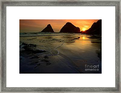 One With The Sea Framed Print by Nick  Boren