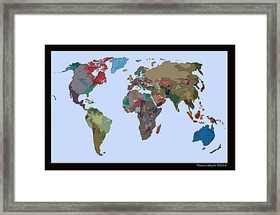 One World Framed Print by Dennis Weiser