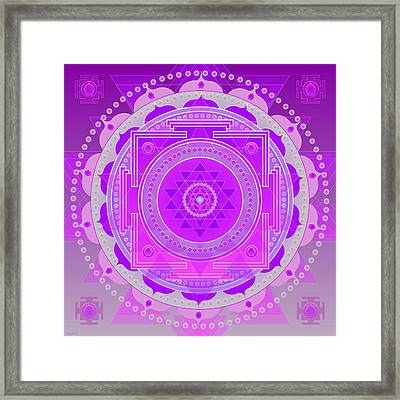 Oneness And Unity Framed Print by Sarah  Niebank