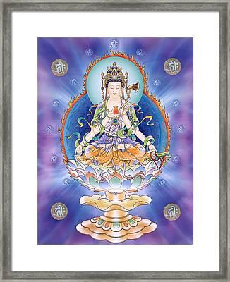 Oneness Avalokitesvara  Framed Print by Lanjee Chee