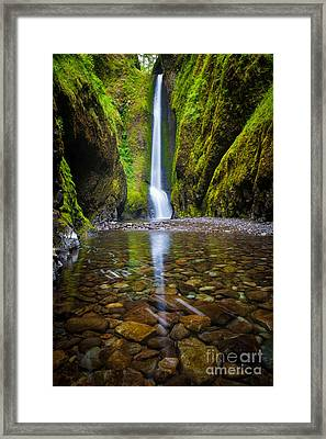 Oneonta Falls Framed Print by Inge Johnsson