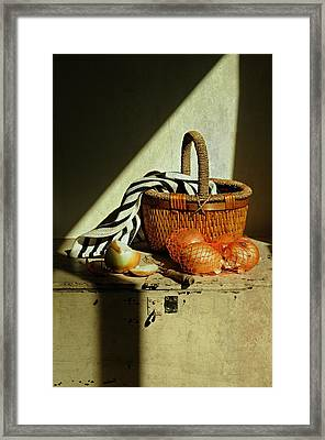Onion Basket Framed Print by Diana Angstadt