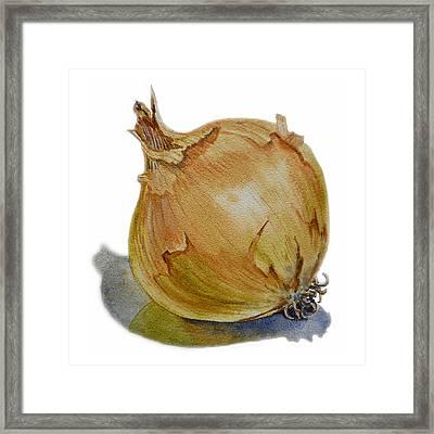 Onion Framed Print by Irina Sztukowski