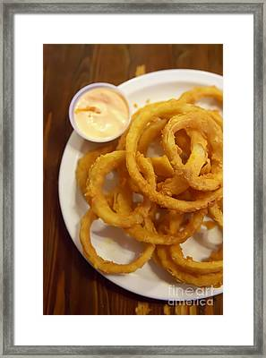 Onion Rings Framed Print by Kay Pickens