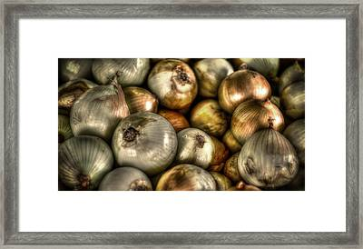 Onions Framed Print by David Morefield