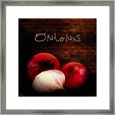 Onions II Framed Print by Lourry Legarde