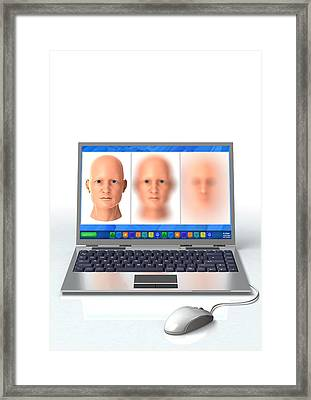 Online Identity Theft, Conceptual Framed Print by Science Photo Library