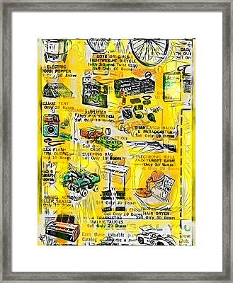 Only 10 Boxes Framed Print by Russell Pierce