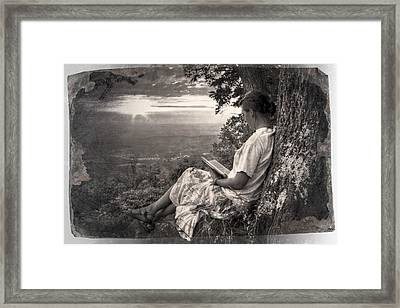 Only The Heart May Know Black And White Framed Print by Debra and Dave Vanderlaan