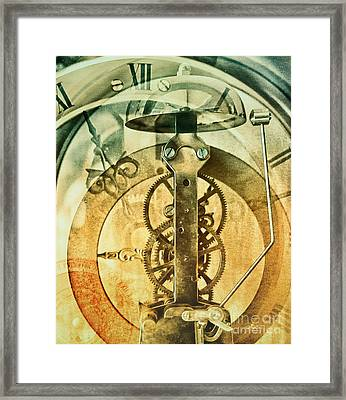 Only Time Framed Print by Jutta Maria Pusl