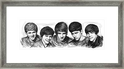 Onr Direction Art Long Drawing Sketch Poster Framed Print by Kim Wang