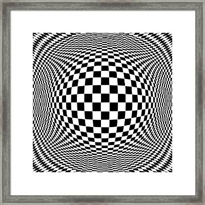 Op Art Framed Print by J M Designs
