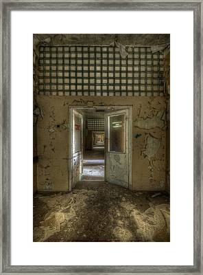 Op Doors Framed Print by Nathan Wright