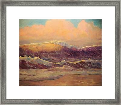 Opal Surf Reworked Finale Framed Print by Jim Noel