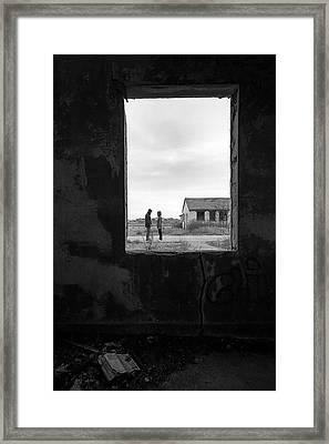 Open Book - Fort Tilden Framed Print by Gary Heller