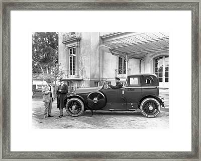 Open Cab Limousine Framed Print by Underwood Archives