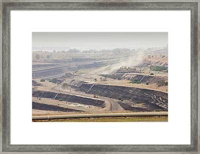Open Cast Coal Mine Framed Print by Ashley Cooper