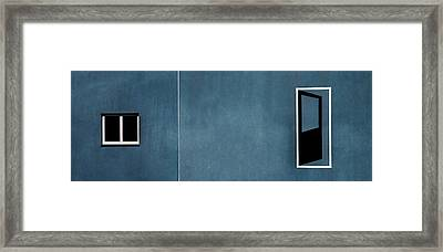 Open Door... No Access Framed Print by Gilbert Claes