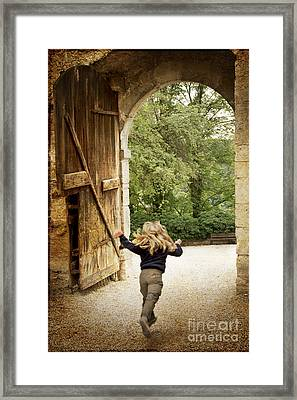 Open Gate Framed Print by Heiko Koehrer-Wagner