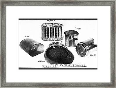 Open Inhalers Framed Print by Science Photo Library