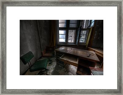 Open Office Framed Print by Nathan Wright