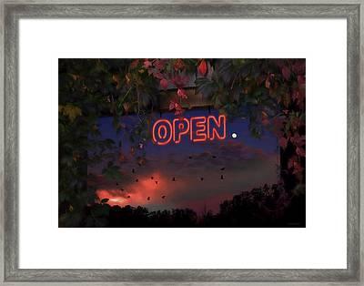 Open Framed Print by Ron Jones