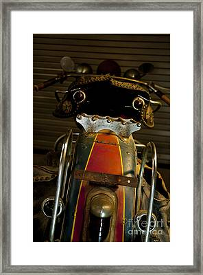 Open The Garage Door And Let Me Go  Framed Print by Wilma  Birdwell