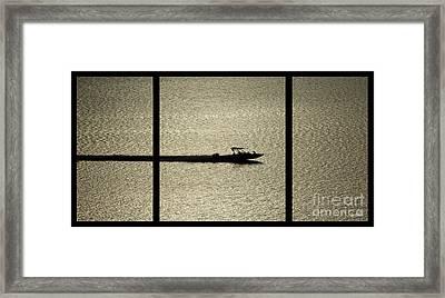 Open Waters Triptych Framed Print by Peter Piatt