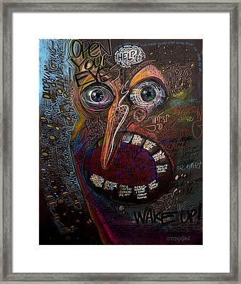 Open Your Eyes Framed Print by Frank Robert Dixon