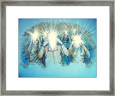 Open Your Mind Framed Print by Paulo Zerbato