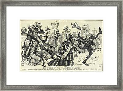 Opening Of The Royal Palace Of Justice Framed Print by British Library