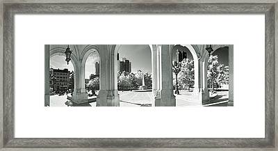 Opera Overlooking The Financial Framed Print by Panoramic Images