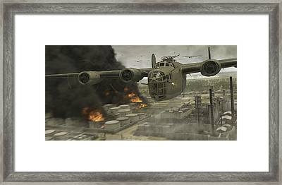 Operation Tidal Wave Head-on View Framed Print by Robert Perry