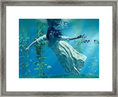 Ophelia Framed Print by Daniel Eskridge