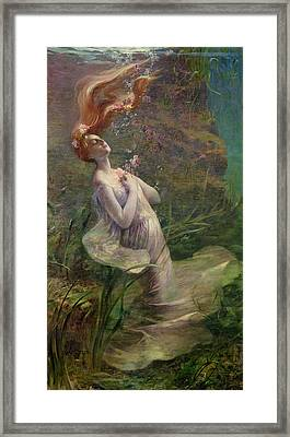 Ophelia Drowning Framed Print by Paul Albert Steck
