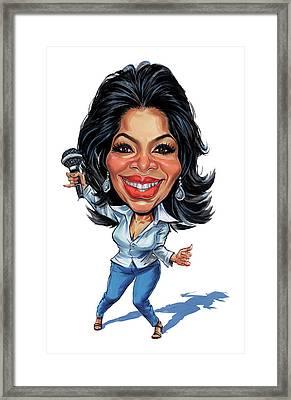 Oprah Winfrey Framed Print by Art