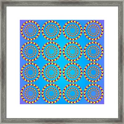 Optical Illusion Spinning Wheels Framed Print by Sumit Mehndiratta