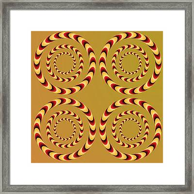 Optical Ilusions Summer Spin Framed Print by Sumit Mehndiratta