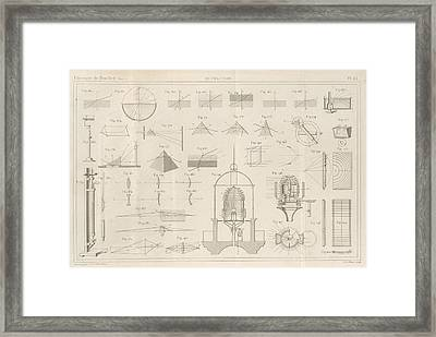 Optical Refraction Experiments Framed Print by King's College London